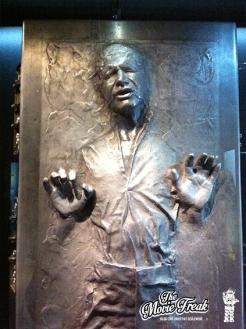 Han Solo pris dans la carbonite.