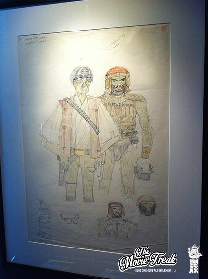 Première ébauche encore très humanoïde pour Jabba The Hutt (à gauche).