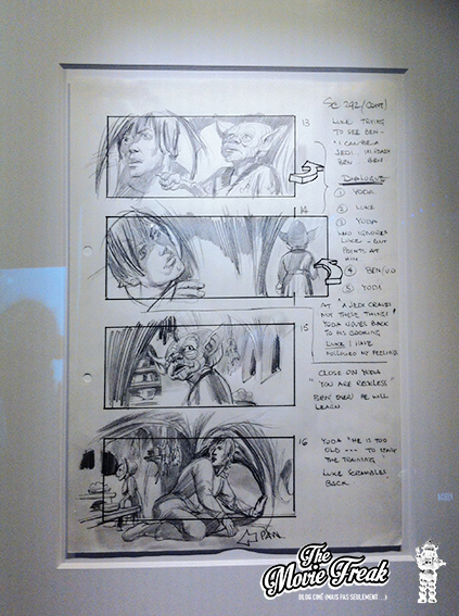 Extrait du story-board de L'Empire Contre-Attaque.