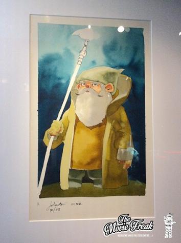 Yoda dans une des premières ébauches réalisées par Joe Johnston, futur réalisateur de Rocketeer et Captain America. L'influence de l'Héroïc Fantasy est encore très presante.