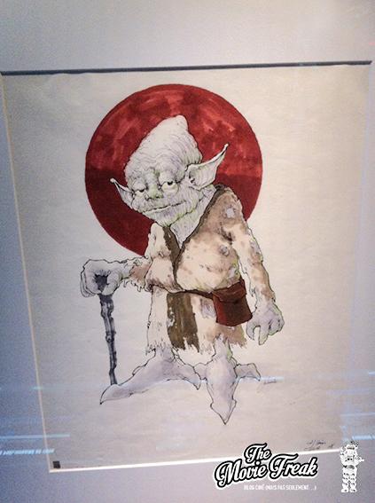 Croquis pour Yoda, plus proche de sa version finale. Le personnage se nommait encore Minch au moment de la pré-production de l'épisode V.