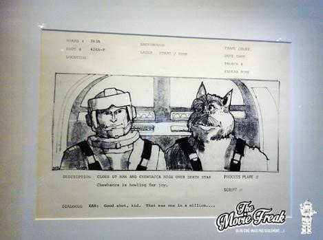 Une rareté avec cette première ébauche de Han Solo et Chewbacca par Joe Johnston, pendant la préparation de l'épisode IV.