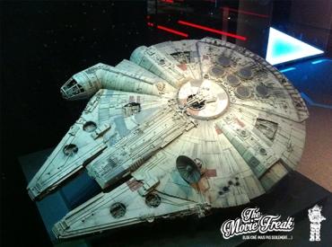 Le Faucon Millenium, célèbre vaisseau de Han et Chewie, indissociable de la saga.