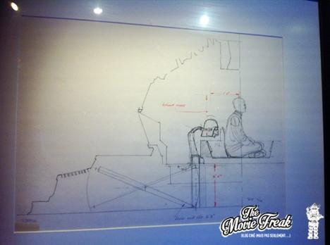 Une esquisse pour la chambre de méditation de Dark Vador, vue dans l'épisode V.