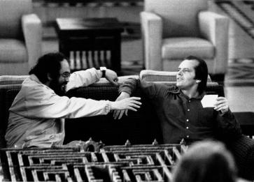 Kubrick et Nicholson en pleine discussion…