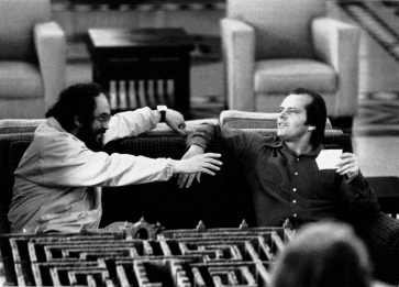 Kubrick et Nicholson en pleine discussion…