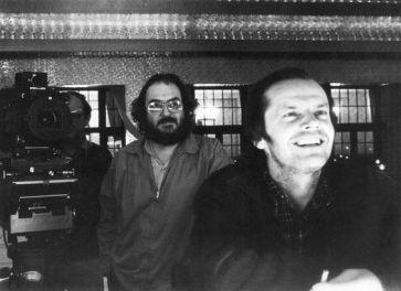 Kubrick et Nicholson sur le tournage…