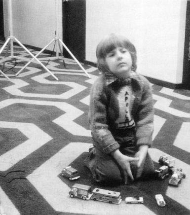 Le jeune Danny Lloyd sur le tournage…