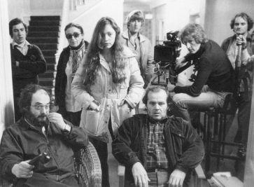 Stanley Kubrick, sa fille Vivian, Jack Nicholson et Garrett Brown, l'inventeur et opérateur de la Steadicam.